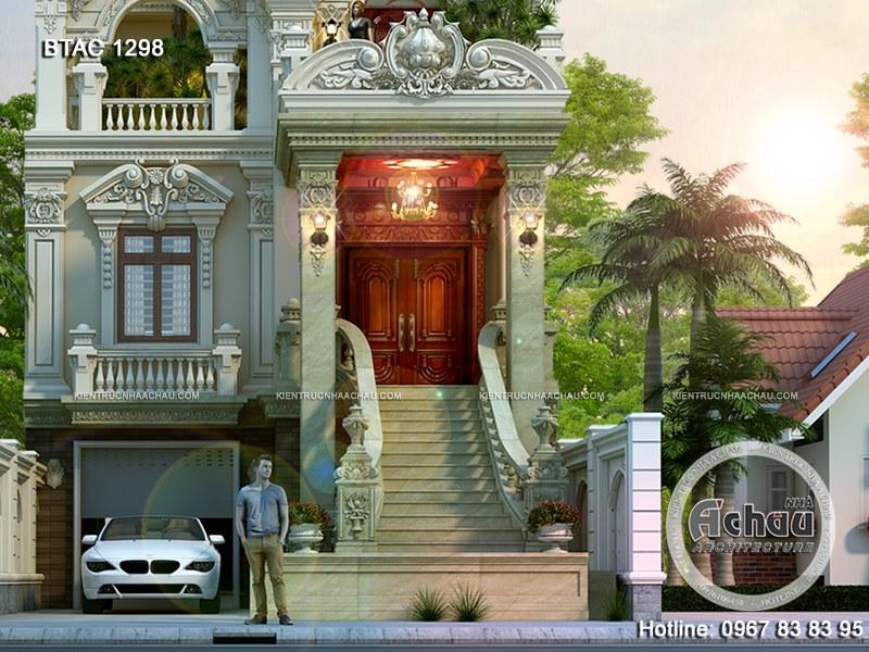 Hình ảnh nhà biệt thự 3 tầng cổ điển đẹp