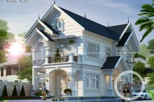 Các mẫu nhà đẹp 2 tầng -Biệt thự mái thái ở Hải Phòng - BTAC 1263