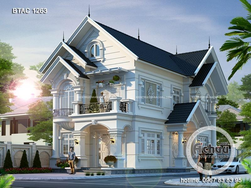 Các mẫu nhà đẹp 2 tầng -Biệt thự mái thái ở Hải Phòng – BTAC 1263