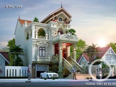Thiết kế biệt thự 3 tầng cổ điển - Biệt thự ở Hải Dương - BTAC 1298