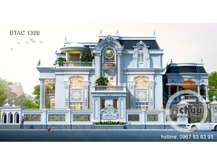 Hình ảnh thiết kế biệt thự tân cổ điển 3 tầng Thái Nguyên
