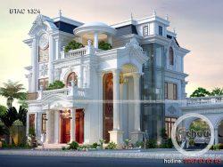 biệt thự 3 tầng tân cổ điển