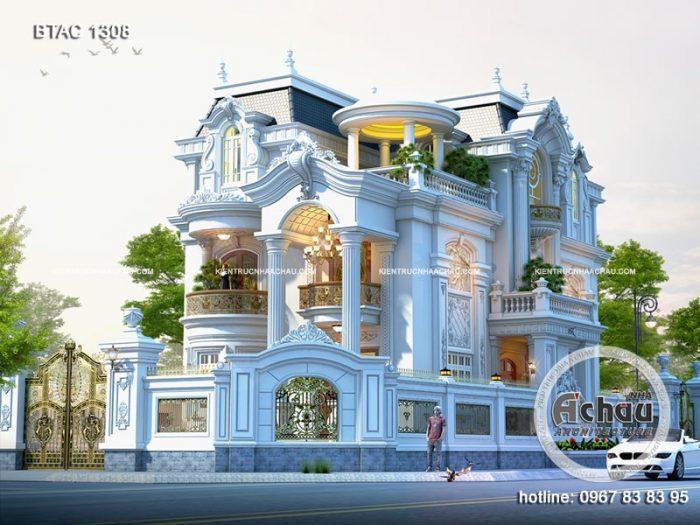 Phối cảnh biệt thự tân cổ điển 3 tầng Thái Nguyên