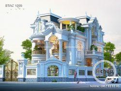 Biệt thự 3 tầng tân cổ điển - BTAC1308