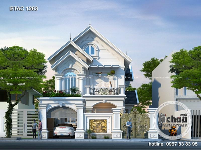 Biệt thự mái thái Hải Phòng - BTAC1263