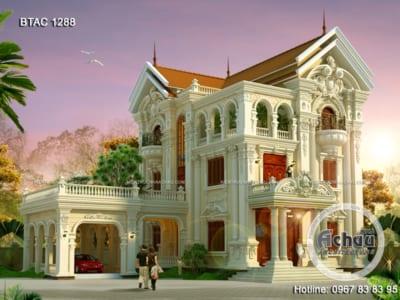 Mẫu biệt thự cổ điển - Mẫu biệt thự ở Nha Trang - BTAC 1288