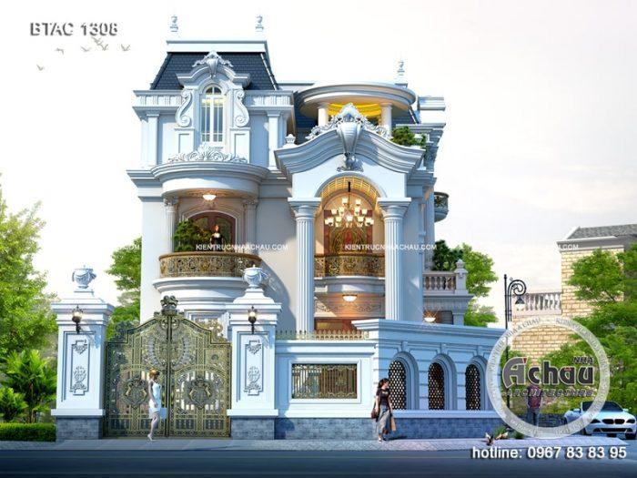 Biệt thự 3 tầng tân cổ điển đẳng cấp, sang trọng Thái Nguyên
