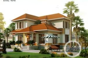 Các mẫu nhà 2 tầng đẹp - Biệt thự ở Hải Dương - BTAC 1019