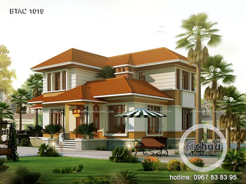 Các mẫu nhà 2 tầng đẹp – Biệt thự ở Hải Dương – BTAC 1019