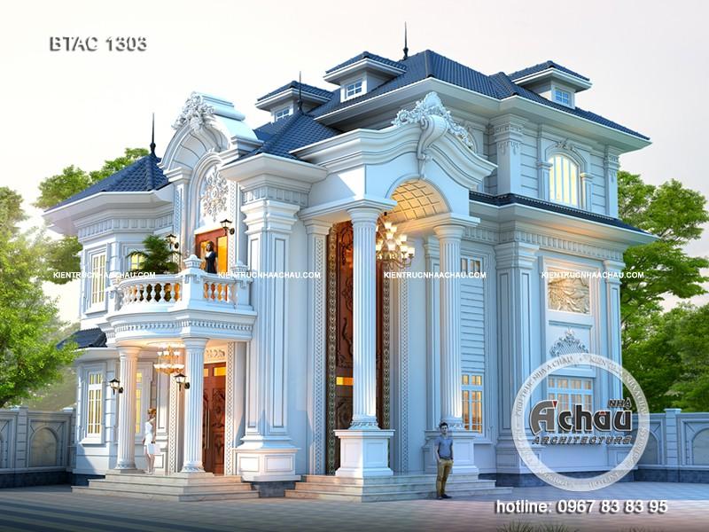 mẫu thiết kế biệt thự phong cách tân cổ điển