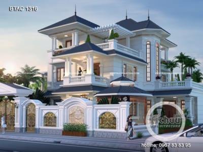 Thiết kế nhà biệt thự 3 tầng đẹp – Biệt thự ở Ninh Bình – BTAC 1316