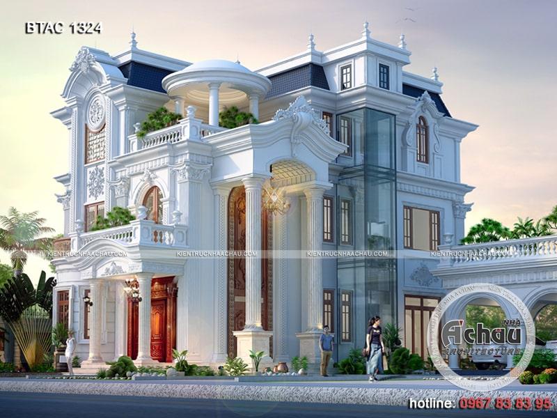Góc nghiêng biệt thự 3 tầng tân cổ điển đẹp Hà Nam