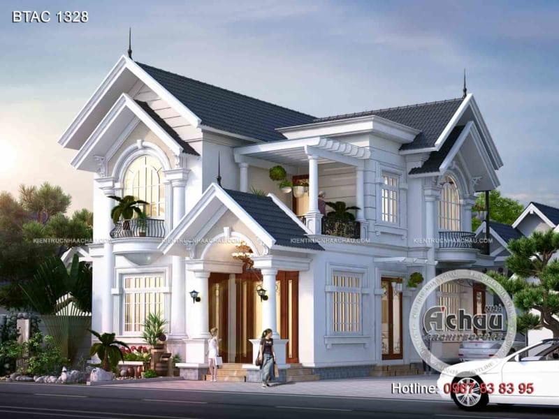 Thiết kế nhà 2 tầng đẹp – Biệt thự tại Hải Dương – BTAC 1328