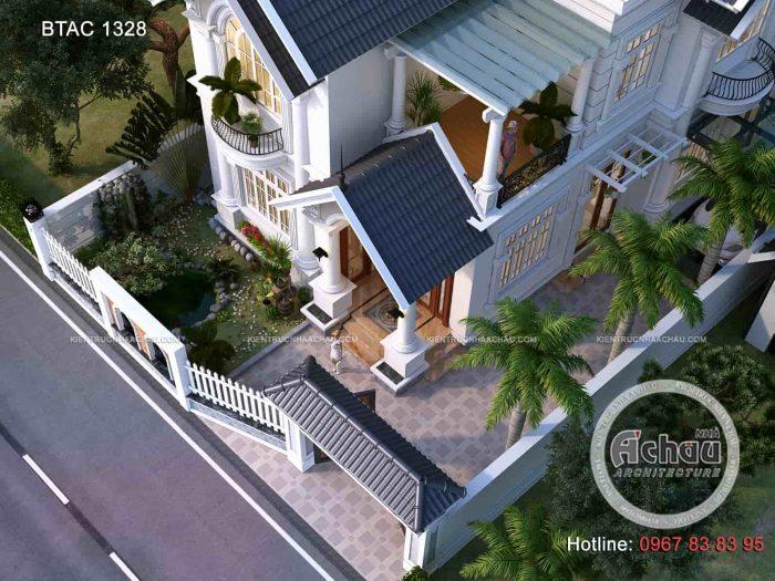Mẫu nhà 2 tầng mái thái diện tích 120m2 - BTAC1328