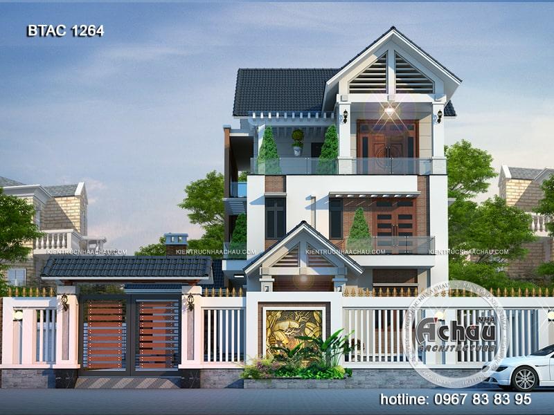 các mẫu nhà phố 3 tầng đẹp hiện đại