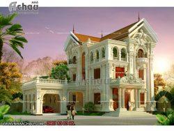 Biệt thự cổ điển đẹp ở Nha Trang. Kiến trúc nhà Á Châu là đơn vị thiết kế