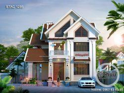 Thiết kế biệt thự hiện đại mái thái BTAC1286