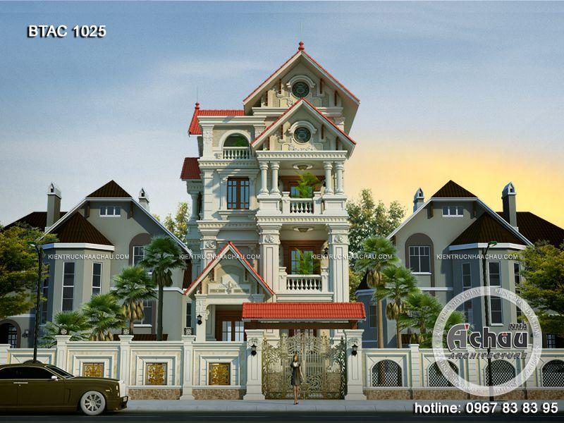 thiết kế biệt thự 3 tầng cổ điển đẹp