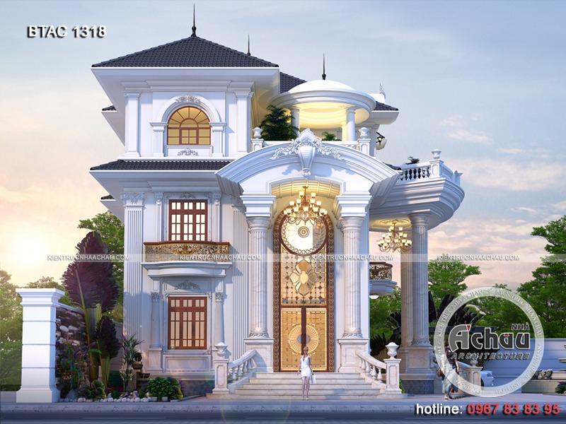 Mẫu nhà 3 tầng đẹp tân cổ điển