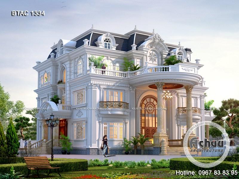 Mẫu biệt thự tân cổ điển đẹp – Biệt thự tân cổ điển 3 tầng ở Đà Nẵng