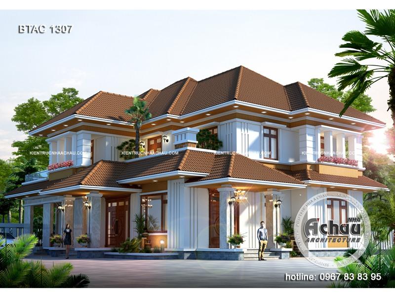 Mẫu nhà vườn đẹp 2 tầng ở Phú Thọ – BTAC 1307