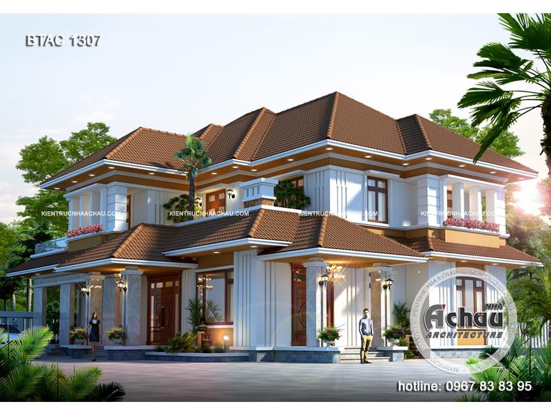 Biệt thự 2 tầng hiện đại – Biệt thự đẹp ở Phú Thọ – BTAC 1307
