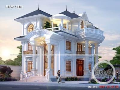 Mẫu nhà 3 tầng - Biệt thự tân cổ điển ở Thái Nguyên - BTAC1318