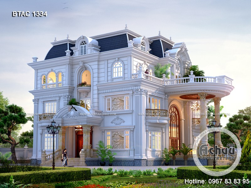 mẫu biệt thự tân cổ điển 3 tầng đẹp