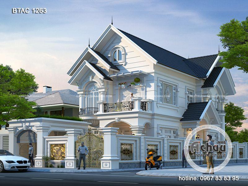 Thiết kế biệt thự 2 tầng đẹp, hiện đại, sang trọng