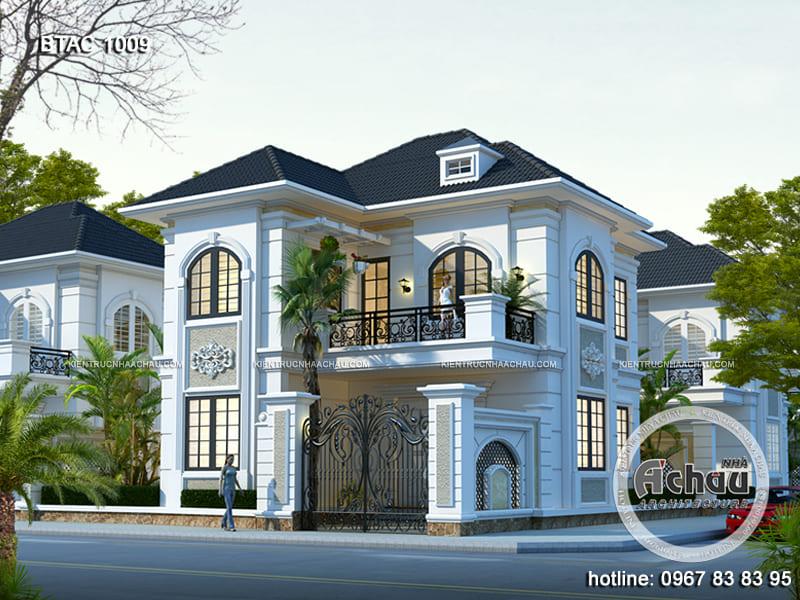 Thiết kế nhà 2 tầng đẹp - BTAC 1009