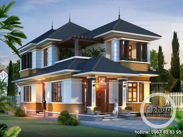 Thiết kế biệt thự 2 tầng hiện đại – Biệt thự vùng nông thôn – BTAC 1294