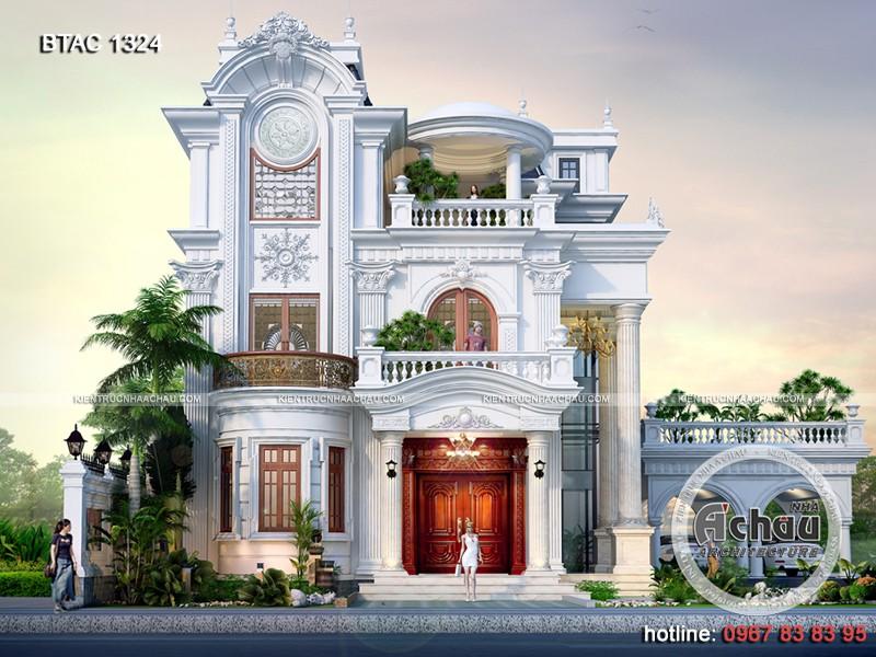 thiết kế nhà biệt thự tân cổ điển