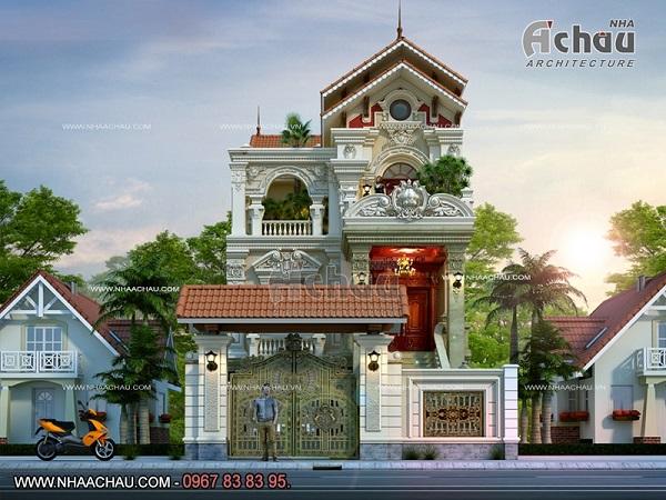 Mẫu thiết kế biệt thự kiểu Pháp theo kiểu cung điện