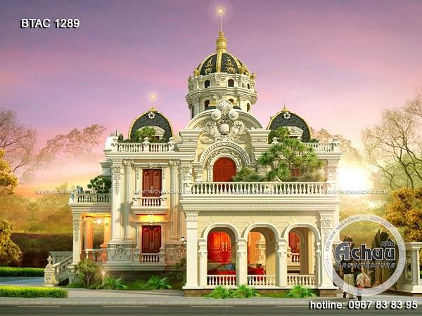 Mẫu biệt thự 3 tầng kiểu Pháp theo kiểu cung điện