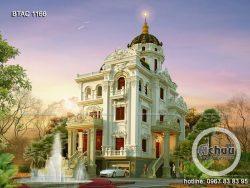 thiết kế biệt thự 3 tầng cổ điển