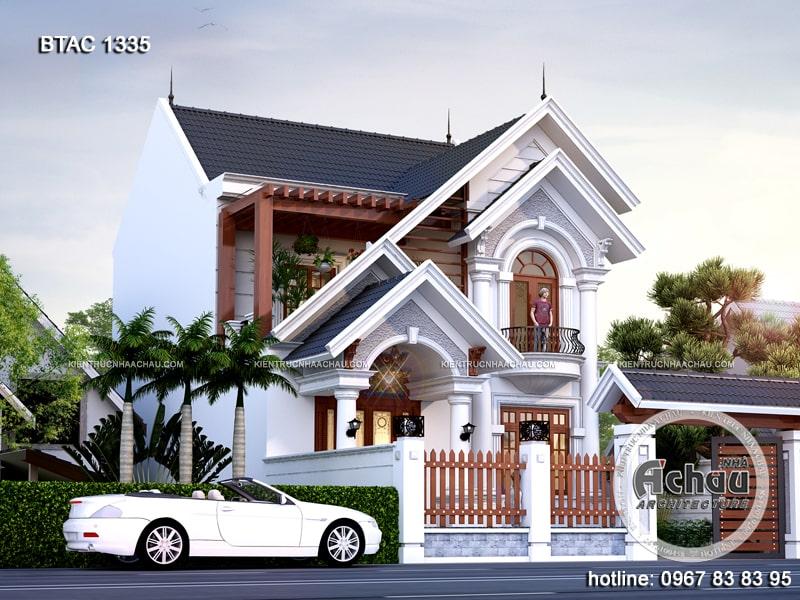 mẫu nhà 2 tầng đẹp nông thôn