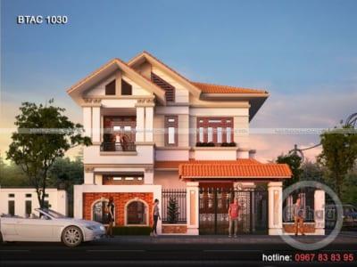 Các mẫu nhà đẹp 2 tầng - Mẫu nhà ở Hà Nam - BTAC 1030