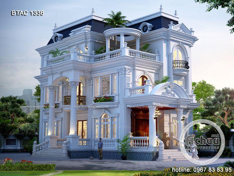 mẫu biệt thự trắng đẹp