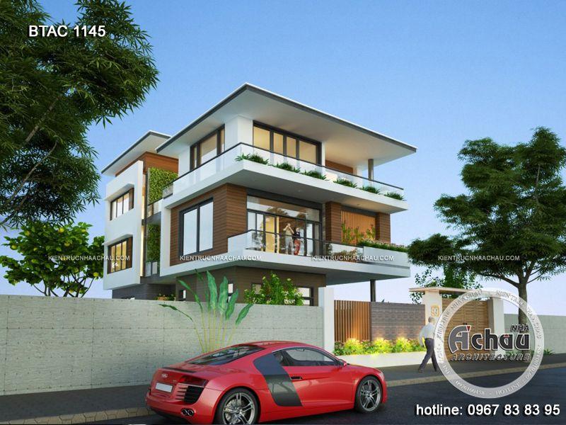 thiết kế biệt thự 3 tầng hiện đại đẹp, thiết kế nhà phố