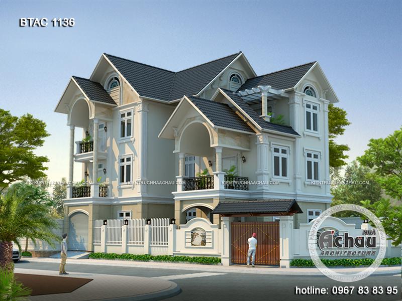 Mẫu thiết kế nhà đẹp 3 tầng ấn tượng nhất BTAC 1136