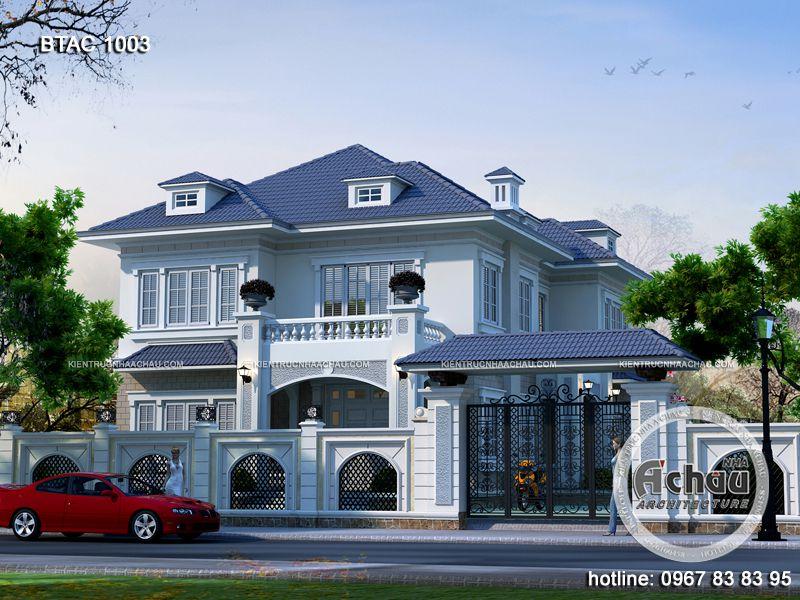 Thiết kế nhà biệt thự hiện đại 2 Tầng Đẹp – BTAC 1003