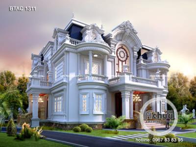 Mẫu nhà 3 tầng - Mẫu nhà ở Thái Nguyên BTAC 1311