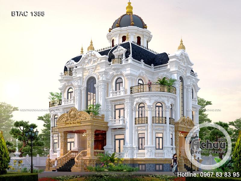 Mẫu biệt thự cổ điển 3 tầng – Xây nhà trọn gói BTAC 1388