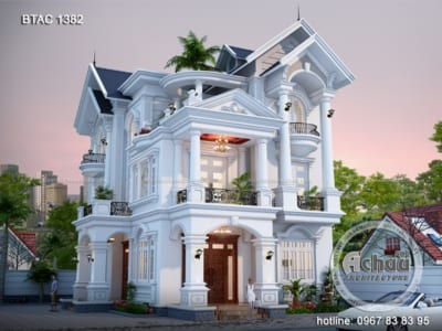 Mẫu nhà 3 tầng – Biệt thự tại Phú Thọ BTAC 1382