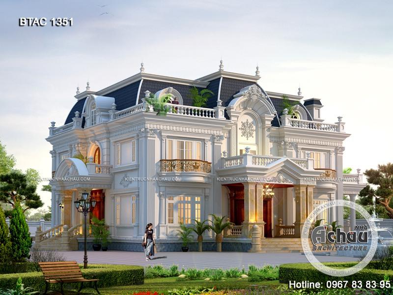 mẫu nhà biệt thự tân cổ điển 2 tầng đẹp