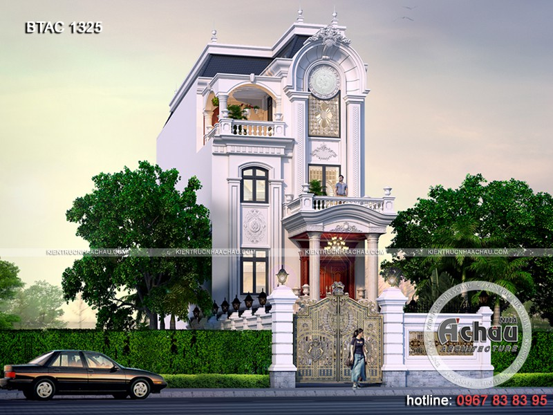Kiến trúc nhà đẹp – Nhà phố tân cổ điển BTAC 1325
