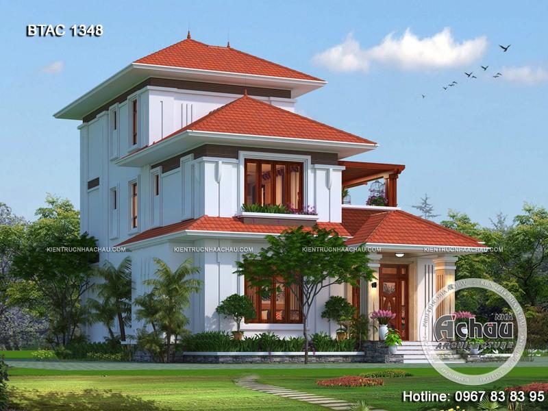 nhà đẹp 2 tầng, hiện đại ở nông thôn