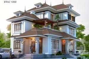 Thiết kế biệt thự nhà vườn - Mẫu biệt thự đẹp 2,5 tầng BTAC 1389