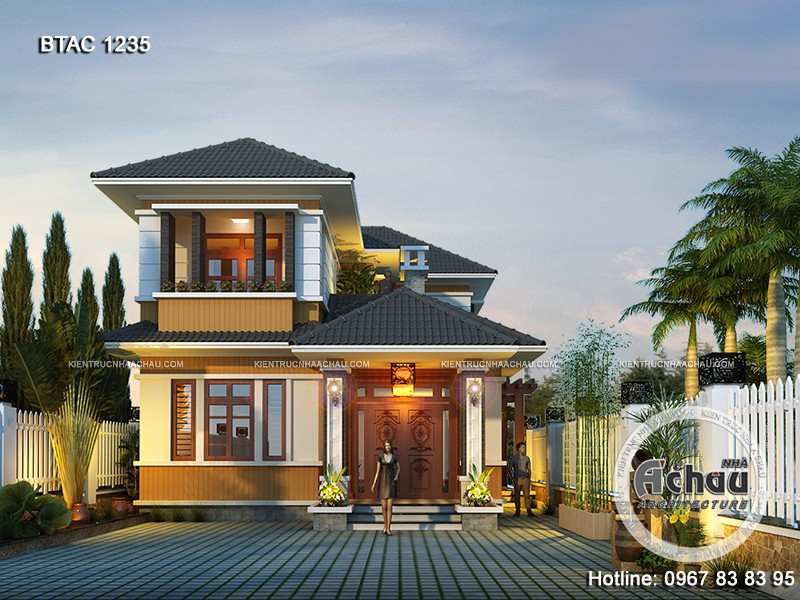 Thiết kế kiến trúc nhà đẹp 2 tầng