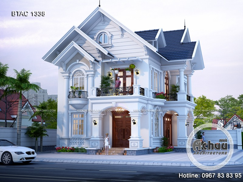 Thiết kế nhà 2 mặt tiền – Ngôi nhà mang vẻ đẹp sang trọng BTAC 1338